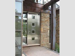 Входна врата от неръждаема стомана - инокс (2)
