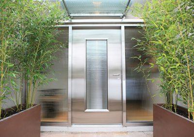 Входна врата от неръждаема стомана - инокс (10)