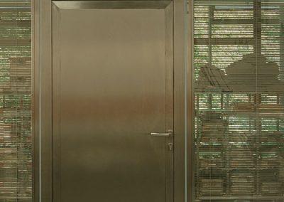 Входна врата от неръждаема стомана - инокс (7)