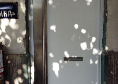 Входна врата от неръждаема стомана - инокс (16)