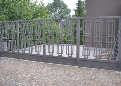 Външна ограда от ковано желязо (63)