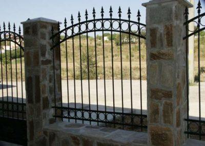 Външна ограда от ковано желязо (47)