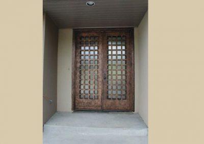 Дворна врата от ковано желязо (164)