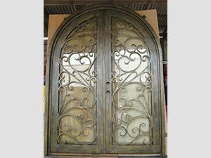 Дворна врата от ковано желязо (7)