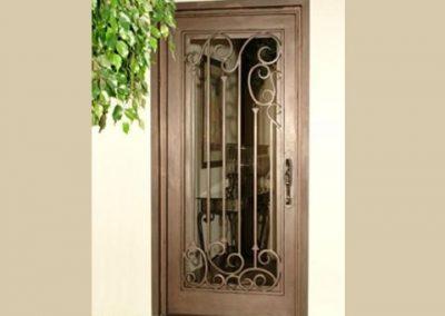 Дворна врата от ковано желязо (163)