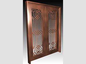 Дворна врата от ковано желязо (6)