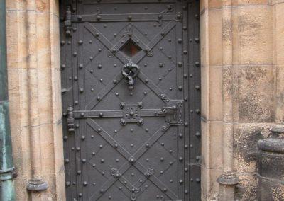 Дворна врата от ковано желязо (162)