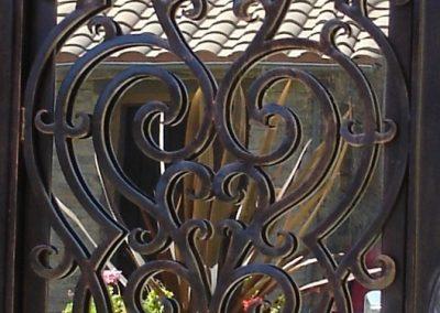 Дворна врата от ковано желязо (161)