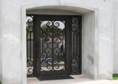 Дворна врата от ковано желязо (160)