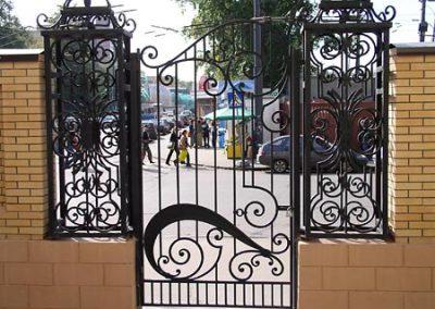 Дворна врата от ковано желязо (172)