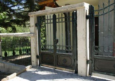 Дворна врата от ковано желязо (156)