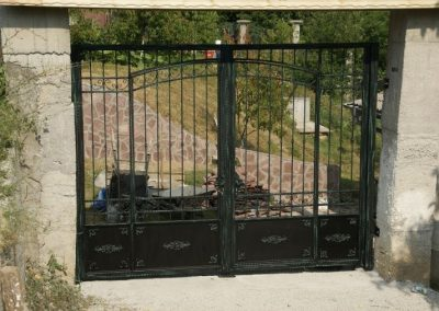 Дворна врата от ковано желязо (155)