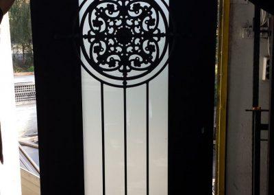Дворна врата от ковано желязо (154)