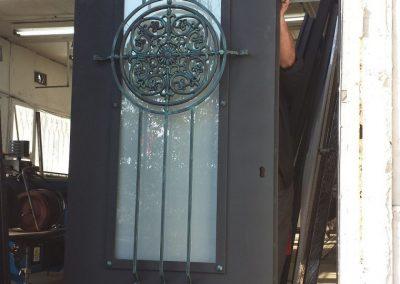 Дворна врата от ковано желязо (153)