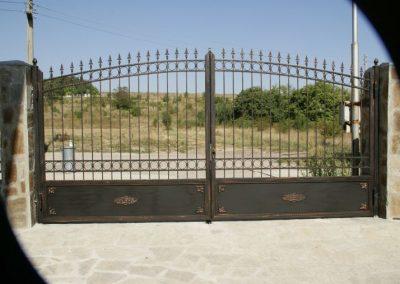 Дворна врата от ковано желязо (171)