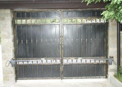 Дворна врата от ковано желязо (146)