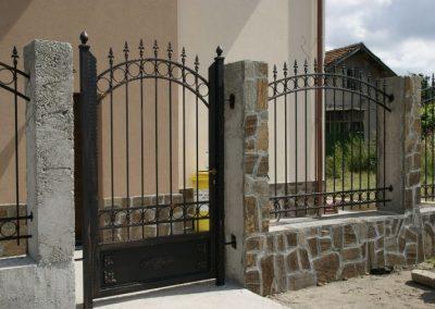 Дворна врата от ковано желязо (141)