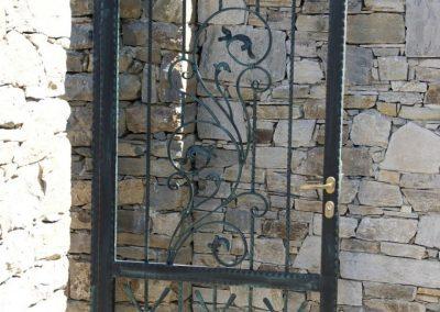 Дворна врата от ковано желязо (169)