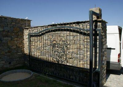 Дворна врата от ковано желязо (168)