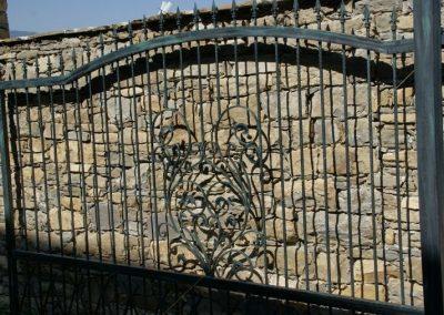 Дворна врата от ковано желязо (167)