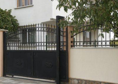 Дворна врата от ковано желязо (165)