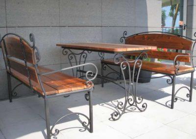 Градински маси и пейки от ковано желязо (2)