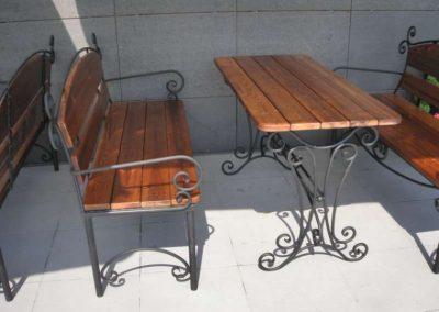 Градински маси и пейки от ковано желязо (3)